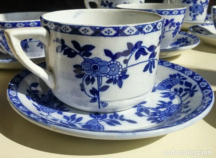 Antigüedades: Juego de 10 tazas y 10 platos SAN JUAN DE AZNALFARACHE, serie INDIA - Foto 8 - 156767494