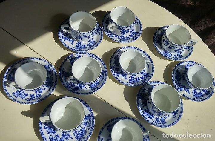 Antigüedades: Juego de 10 tazas y 10 platos SAN JUAN DE AZNALFARACHE, serie INDIA - Foto 10 - 156767494