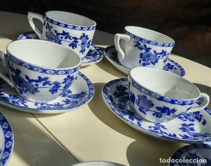 Antigüedades: Juego de 10 tazas y 10 platos SAN JUAN DE AZNALFARACHE, serie INDIA - Foto 11 - 156767494