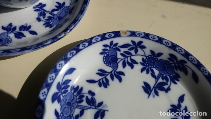 Antigüedades: Juego de 10 tazas y 10 platos SAN JUAN DE AZNALFARACHE, serie INDIA - Foto 12 - 156767494