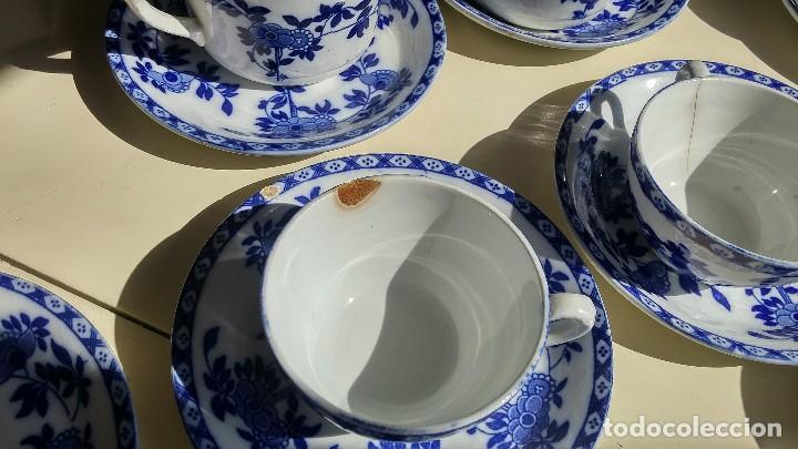 Antigüedades: Juego de 10 tazas y 10 platos SAN JUAN DE AZNALFARACHE, serie INDIA - Foto 15 - 156767494