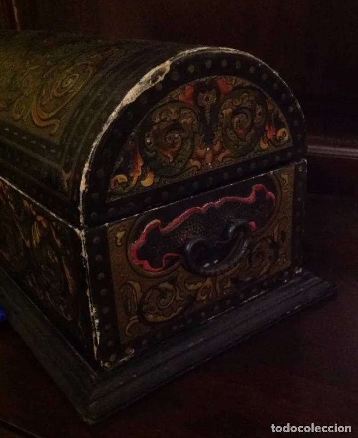 Antigüedades: ANTIGUO COFRE CON ESCUDOS DE CÓRDOBA - Foto 5 - 156772316