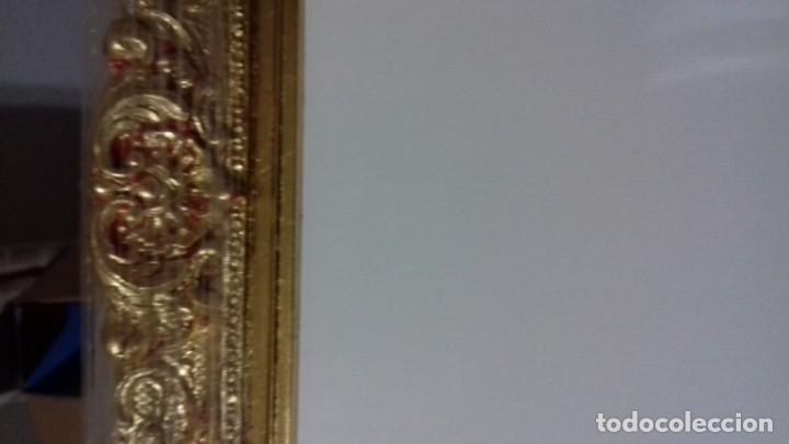 Antigüedades: BONITA MOLDURA MUY ORNAMENTADA. DORADA CON PAN DE ORO. INCLUYE LIENZO DE 29,5X23,5. - Foto 4 - 74106859