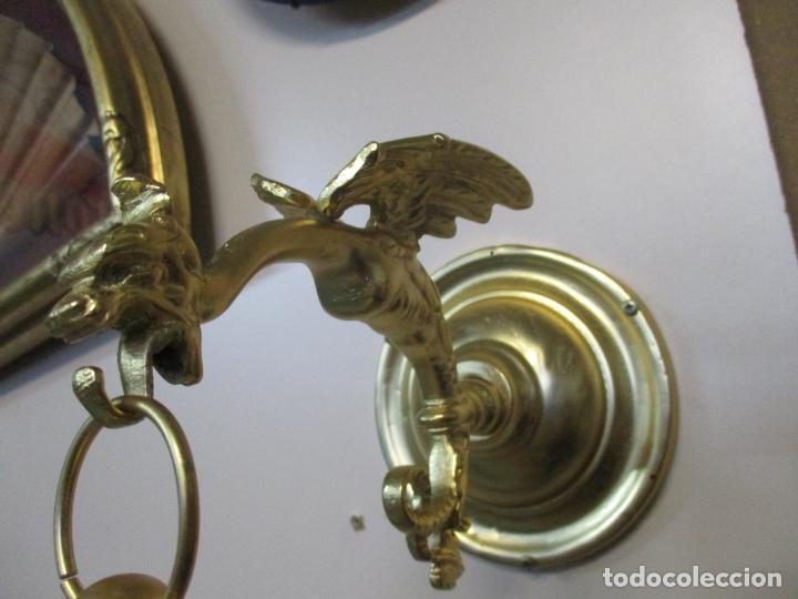Antigüedades: Preciosa Jaula con Soporte de Bronce - Pájaro Colibrí, Autómata - Francia - Principios S. XX - Foto 17 - 156794682