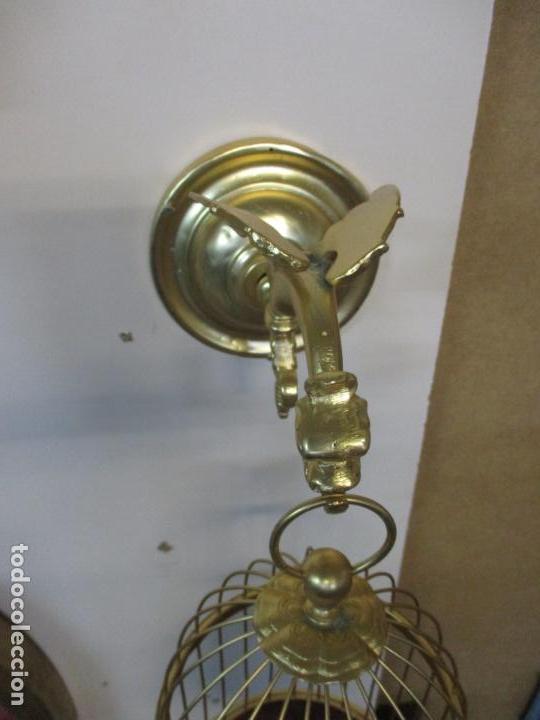 Antigüedades: Preciosa Jaula con Soporte de Bronce - Pájaro Colibrí, Autómata - Francia - Principios S. XX - Foto 23 - 156794682