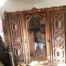 Antigüedades: CAMA Y ARMARIO ANTIGUOS.. Lote 156806866