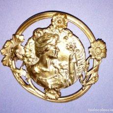 Antigüedades: PRECIOSA HEBILLA DE CINTURON, MODERNISTA - ART NOUVEAU, DE FINALES SXIX , ORIGINAL.. Lote 156825058