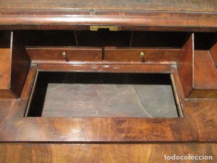 Antigüedades: Escritorio Vitrina - Canterano Librería Victoriano, Inglaterra - Madera en Raíz de Nogal -S. XIX - Foto 11 - 156856326
