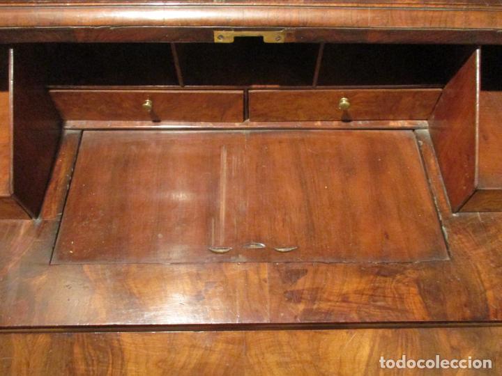 Antigüedades: Escritorio Vitrina - Canterano Librería Victoriano, Inglaterra - Madera en Raíz de Nogal -S. XIX - Foto 12 - 156856326