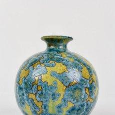 Antigüedades: JARON EN TERRACOTA ESMALTADA.FIRMADA POR A.RENOLEAU. MEDIADOS DE SIGLO XX.. Lote 156865206