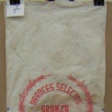 Antigüedades: ANTIGUO SACO DE ARROCES SELECTOS GRANZA VICENTE SANCHO MADRID. Lote 156880190