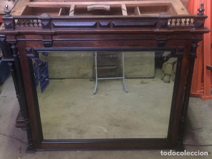 Antigüedades: Mueble de baño y espejo estilo alfonsino,No se hacen envíos solo recogida!!!! - Foto 7 - 156880544