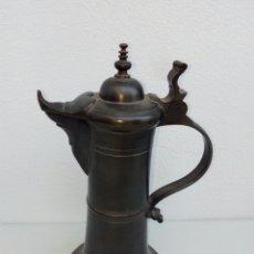 Antigüedades: GRAN JARRA DE CERVEZA ALEMANA EN ESTAÑO ESTILO BARROCO.. Lote 156882750