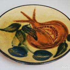 Antigüedades: PLATO DE CERÁMICA DE LA BISBAL - FRUTAS. Lote 156900862
