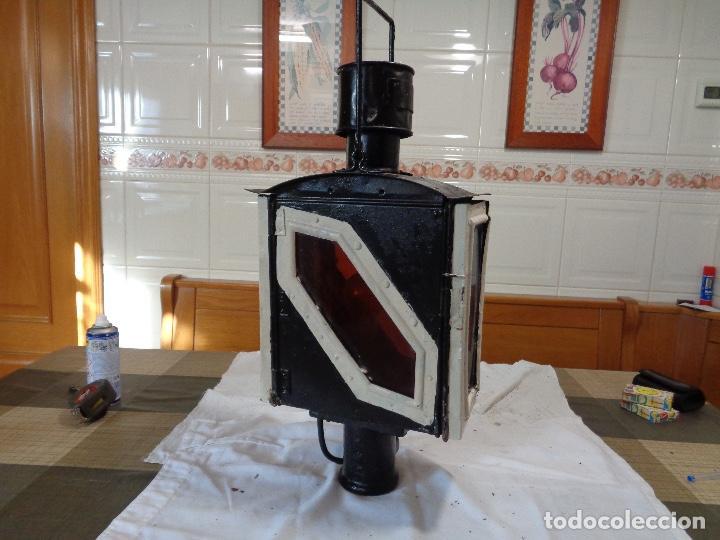 GRAN FAROL FERROCARRIL RENFE (Antigüedades - Iluminación - Faroles Antiguos)