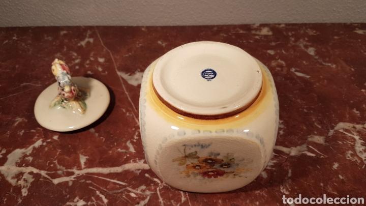 Antigüedades: AZUCARERO / BOMBONERA DE CERAMICA PINTADA A MANO. ANTONIO PEYRO. - Foto 6 - 156916212