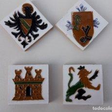 Antigüedades: 4 OLAMBRILLAS CERÁMICAS DE ARISTAS. TRIANA, SEVILLA.. Lote 156919834