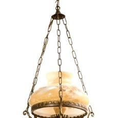 Antigüedades: LAMPARA ANTIGUA, EN EXCELENTE ESTADO DE CONSERVACIÓN, DE DISEÑO CLÁSICO.. Lote 156949682