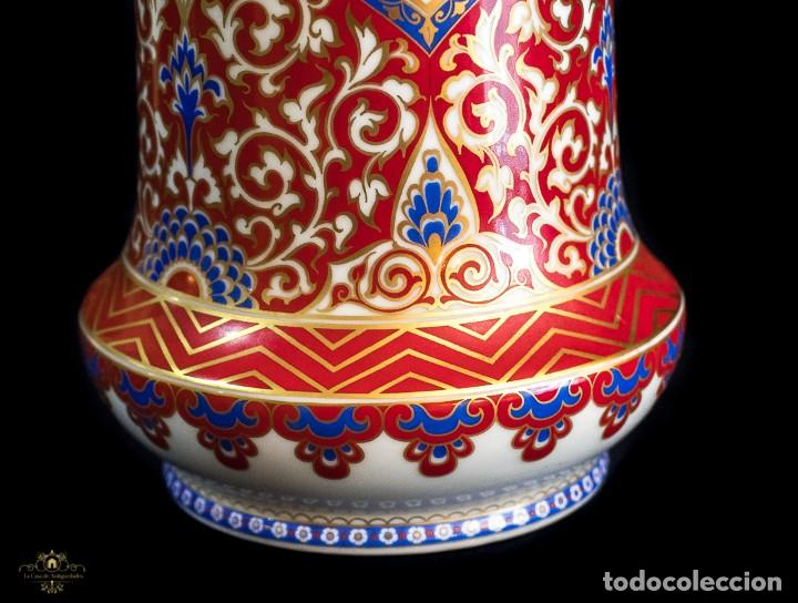 Antigüedades: Bonito jarron antiguo de porcelana pintado a mano de origen aleman, de la marca Kaiser - Foto 4 - 176621014