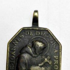 Antigüedades: MEDALLA SAN JUAN DE DIOS Y NUESTRA SEÑORA DE BELEN SIGLO XVII-XVIII, 3 CM, CALIDAD. Lote 156955826