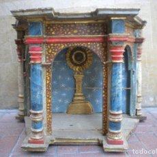 Antigüedades: HORNACINA POLICROMADA DEL S.XVIII DE GRAN CALIDAD . Lote 156958418