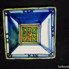 Antigüedades: BALDOSA AZULEJO DE MUEL, ARAGON S FINAL XVII. Lote 156969542