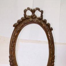 Antigüedades: MARCO DE BRONCE ANTIGUO SIGLO XIX CON SOPORTE. Lote 156971042