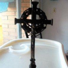 Antigüedades: CRUZ DE ALTAR EN METAL , PRINCIPIOS SIGLO XX. Lote 176621858