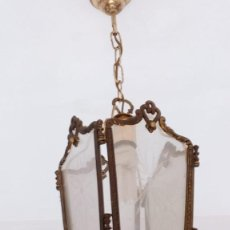 Antigüedades: LAMPARAS TECHO, LOTE DE 4 IGUALES. Lote 156978006