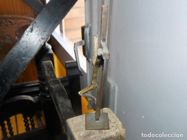 Antigüedades: CRISTO CRUCIFICADO - METAL. - Foto 4 - 156982262