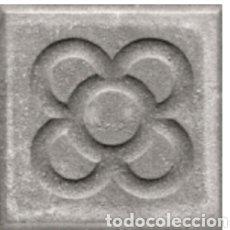 Antigüedades: LOTE 4 PANOTS FLOR BARCELONA GRIS 20X20X4 CM NUEVO. BALDOSA LOSA.. Lote 156984689