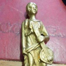 Antigüedades: FIGURA DE BRONCE SIGLO XIX PARA MUEBLE ANTIGUO. Lote 156985413
