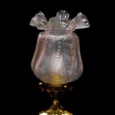 Antigüedades: ESPECTACULAR LAMPARA DE ORIGEN FRANCES, PORCELANA Y BRONCE. Lote 156988838