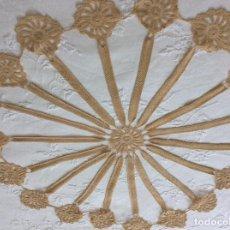 Antigüedades: TAPETE DE FILIGRANA DE GANCHILLO TEJIDO CON FINÍSIMO HILO. AÑOS 60. Lote 156992842