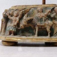 Antigüedades: EXCEPCIONAL OBRA DE ARTE, ENTRE 1500 Y 1600, EN ALABASTRO CON POLICROMÍA ORIGINAL. Lote 156993690