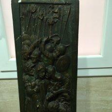 Antigüedades: RETABLO VÍA CRUCIS EN ESTUCO. Lote 156998832