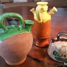 Antigüedades: LOTE DE 3 BOTIJOS DIFERENTES PARA COLECCIONISTAS. Lote 157007950