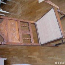 Antigüedades: CUATRO SILLAS DE SALÓN ANTIGUAS MADERA TALLADA. Lote 157009422