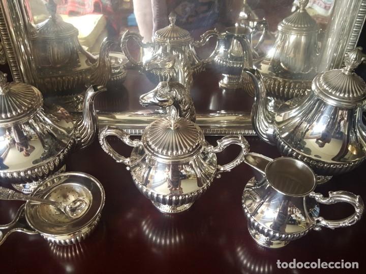 JUEGO CAFÉ Y TE PLATA DE LEY 925 DE PEDRO DURAN (Antigüedades - Platería - Plata de Ley Antigua)