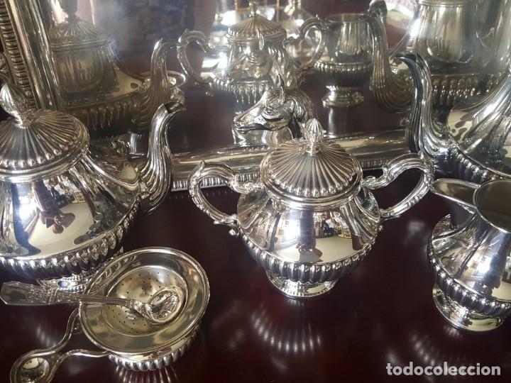 Antigüedades: Juego café y te plata de ley 925 de pedro duran - Foto 2 - 157012870