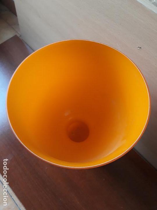 Antigüedades: Copa de cristal de murano color naranja- jarrón centro de mesa - Foto 2 - 157023934