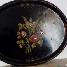 Antigüedades: BANDEJA PINTADA. Lote 157046593