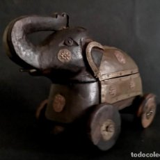 Antigüedades: CAJA-ELEFANTE HINDU. Lote 157051926