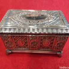 Antiquitäten - Cajita joyero , bañado en plata y labrado. - 157067604