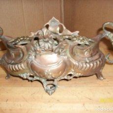 Antigüedades: ANTIGUA JARDINERA DE BRONCE. Lote 157091294
