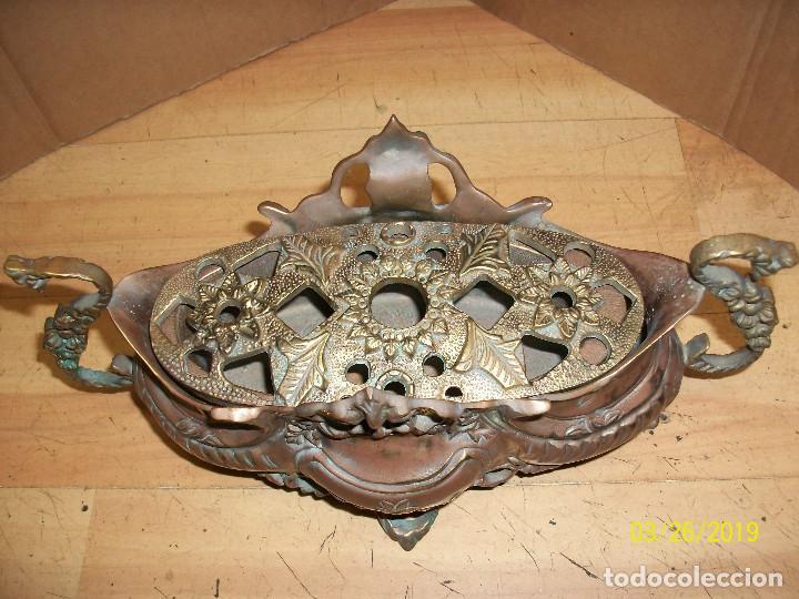 Antigüedades: ANTIGUA JARDINERA DE BRONCE - Foto 2 - 157091294