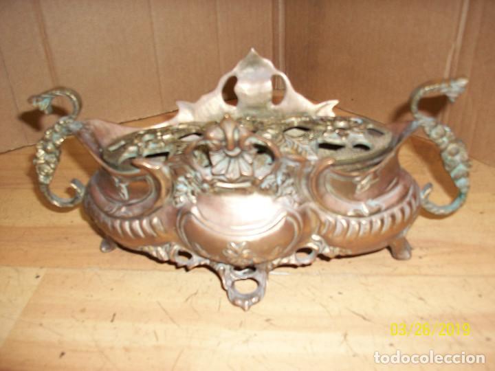 Antigüedades: ANTIGUA JARDINERA DE BRONCE - Foto 3 - 157091294