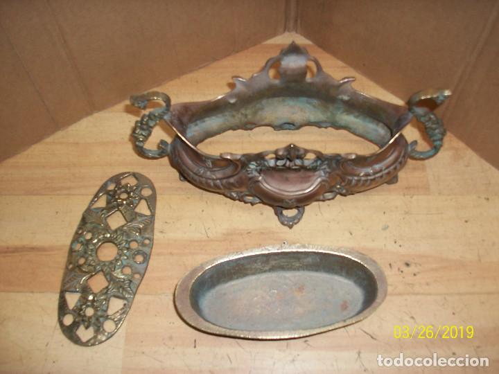 Antigüedades: ANTIGUA JARDINERA DE BRONCE - Foto 5 - 157091294