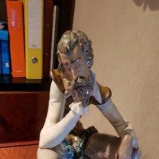Antigüedades: FIGURA LLADRÓ - DON QUIJOTE PENSATIVO. Lote 157133126