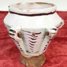 Antigüedades: MORTERO DE CERÁMICA DE 3 ASAS. TERUEL. ESPAÑA. SIGLO XVIII-XIX.. Lote 161769741